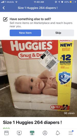 Huggie Diapers size 1 for Sale in Florissant, MO
