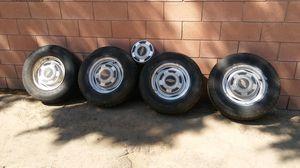 "Chevy van truck or car 5x5 stock 15"" ratrod wheels for Sale in Los Angeles, CA"