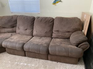 3pc sectional sofa with pull out bed and recliner for Sale in Lake Elsinore, CA