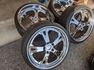 """20"""" AutoCouture BMW 5x120 Wheels Rims Tires Chrome for Sale in Laurel, MD"""