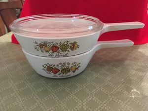 Lot Of Two CorningWare Spice Of Life Skillets. for Sale in Miami, FL
