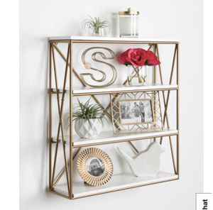 Kate & Laurel | White and Gold | Wall Shelf | NWT for Sale in Folsom, CA