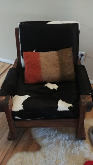 Real cow hide rocking chair for Sale in Salt Lake City, UT