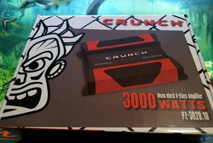 Crunch 3000watt hi powered amp brand new with warranty for Sale in Covina, CA