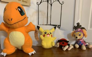2 Pokémon, 1 PAW patrol and 1 Cool Spot plushies for Sale in Canton, GA