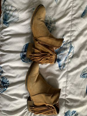 Boho booties, camel color boots, Cathy jean for Sale in San Diego, CA