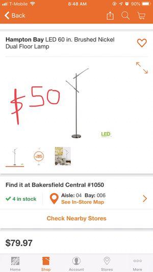 LED dual Floor lamp 60 in for Sale in Bakersfield, CA