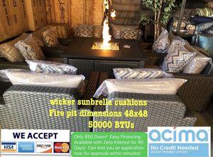Patio furniture set sunbrella cushions for Sale in Riverside, CA