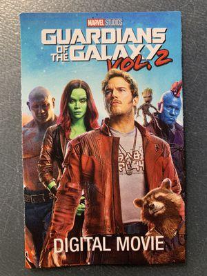 Guardians of the Galaxy Vol 2 HD Digital Code for Sale in El Monte, CA