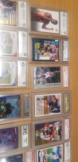 Graded basketball and football cards for Sale in Rowlett, TX