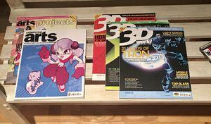 'New' old stock - Computer Arts & 3D World magazines with Discs for Sale in La Conner, WA