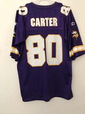 """Minnesota Vikings Vintage 1990'sStarter Brand Jersey """"Cris Carter""""Size 54 XXL Stamp Letters Good Condition for Sale in Reedley, CA"""