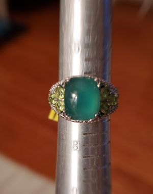 Exquisite Chrysoprase Ring with Emerald and Peridot Accents for Sale in Gainesville, VA