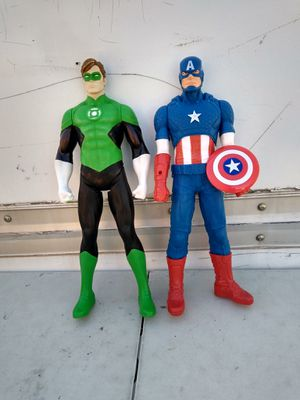 The Green lantern and Captain America big action figures for Sale in Albuquerque, NM