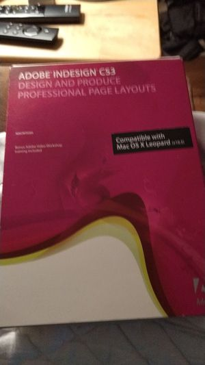 InDesign CS3 - Mac for Sale in Winter Haven, FL