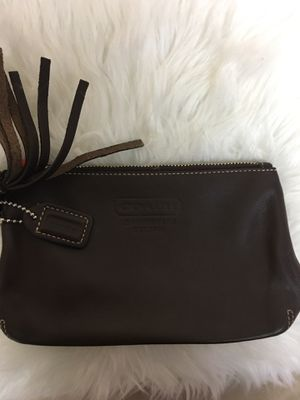 Brown leather Coach pouch for Sale in Kenosha, WI