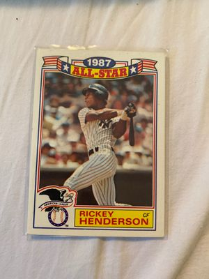Rickey Henderson card for Sale in Tallahassee, FL