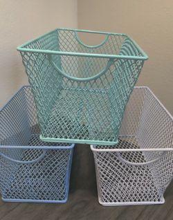 3 Decorative Metal Storage Baskets for Sale in Tempe,  AZ