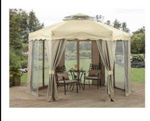 Gazebo Canopy Patio Garden Backyard Shade Tent Gilded Grove Polyester for Sale in Glendale, AZ