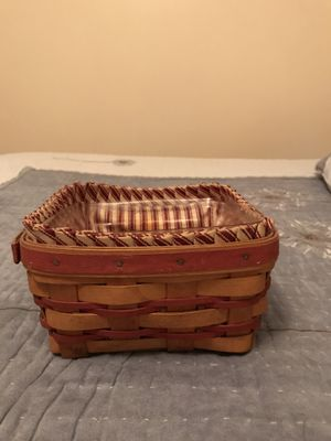 1997 Square Longaberger Basket with liner and protector for Sale in New Castle, PA