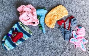 Crochet Newborn Photography Outfits (6 Pieces) for Sale in Garland, TX