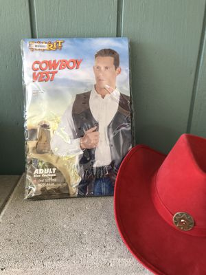Cowboy Vest and Hat for Halloween for Sale in Old Bridge Township, NJ