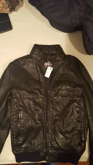 """New with tags Express XS """"leather"""" jacket retail $198 for Sale in Philadelphia, PA"""