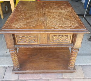 "Heavy Classic Solid Wooden End/Side Table 23 3/4"" W x 26 5/8"" D x 20"" H *Project Piece* for Sale in Henderson, NV"