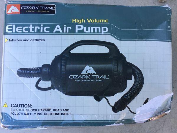 Ozark Trail Electric Air Pump Air Mattress Camp Camping