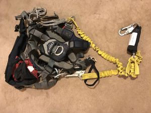 Repelling / rock climbing gear harness and gear. for Sale in Apex, NC