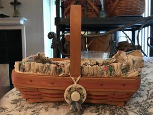 Longaberger spring basket for Sale in San Antonio, TX
