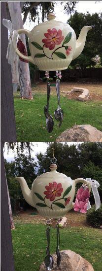 Vintage teapot windchime like desert rose Franciscan wear for Sale in El Cajon, CA