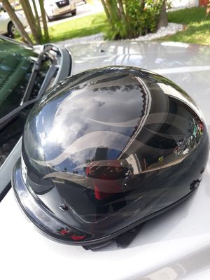 Harley Davidson motorcycle helmet with flames for Sale in Boca Raton, FL