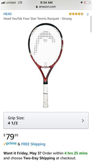 Head tennis racquet 50$ or best offer need gone ASAP for Sale in Austin, TX