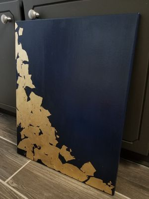 Navy Blue Abstract Painting, Wall Art for Sale in Clayton, NC