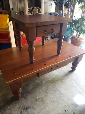 Heavy duty coffee table and side table for Sale in Snohomish, WA