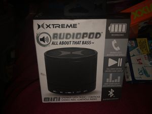 Xtreme RudioPod Mini All About That Bass Speaker with Audio Controls Stero Bluetooth answers calls for Sale in Plainfield, IL