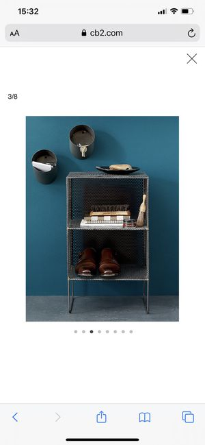 2 CB2 gunmetal bedside tables for Sale in New York, NY