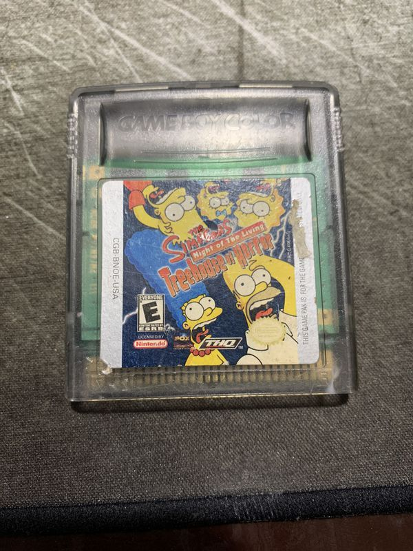 Gameboy Color The Simpsons Treehouse of Horror
