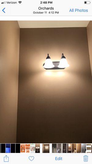 Bathroom Vanity 2 Light Fixture for Sale in Vancouver, WA