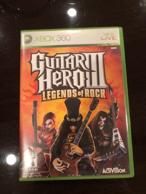Guitar hero 3 legends of rock Xbox 360 game for Sale in Dallas, TX