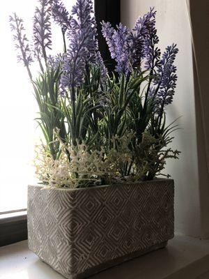 Artificial Flower Potted Lavender Plant for Home Decor for Sale in MIDDLE CITY EAST, PA