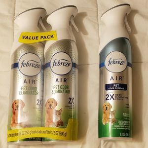 Brand New Febreze Pet Odor Spray- 3 Cans for Sale in Beaverton, OR