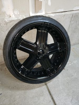 22 inch rims and tires for Sale in Magna, UT