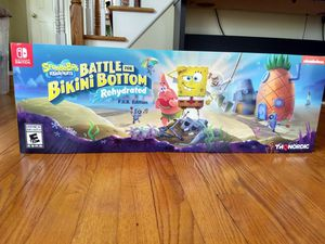 SpongeBob SquarePants battle for bikini bottom rehydrated F.U.N edition for Nintendo Switch for Sale in North Branford, CT