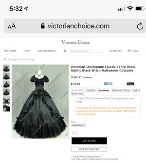 Halloween/cosplay dress for Sale in Puyallup, WA