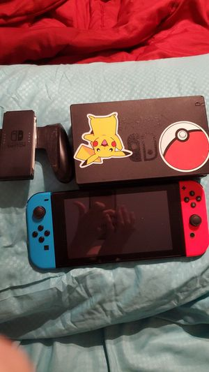 Nintendo switch with neon blue and red joy con for Sale in Melbourne, FL