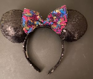 Sequined Minnie Mouse Ears for Sale in Aliquippa, PA