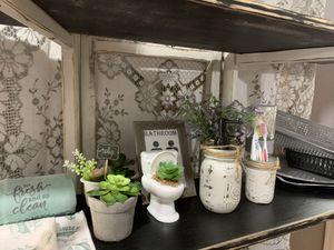 Build your own 5pc mason jar farmhouse bathroom set for Sale in Deltona, FL
