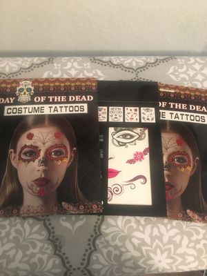 Day of the Dead face tattoos all 3 for $10. for Sale in Baldwin Park, CA